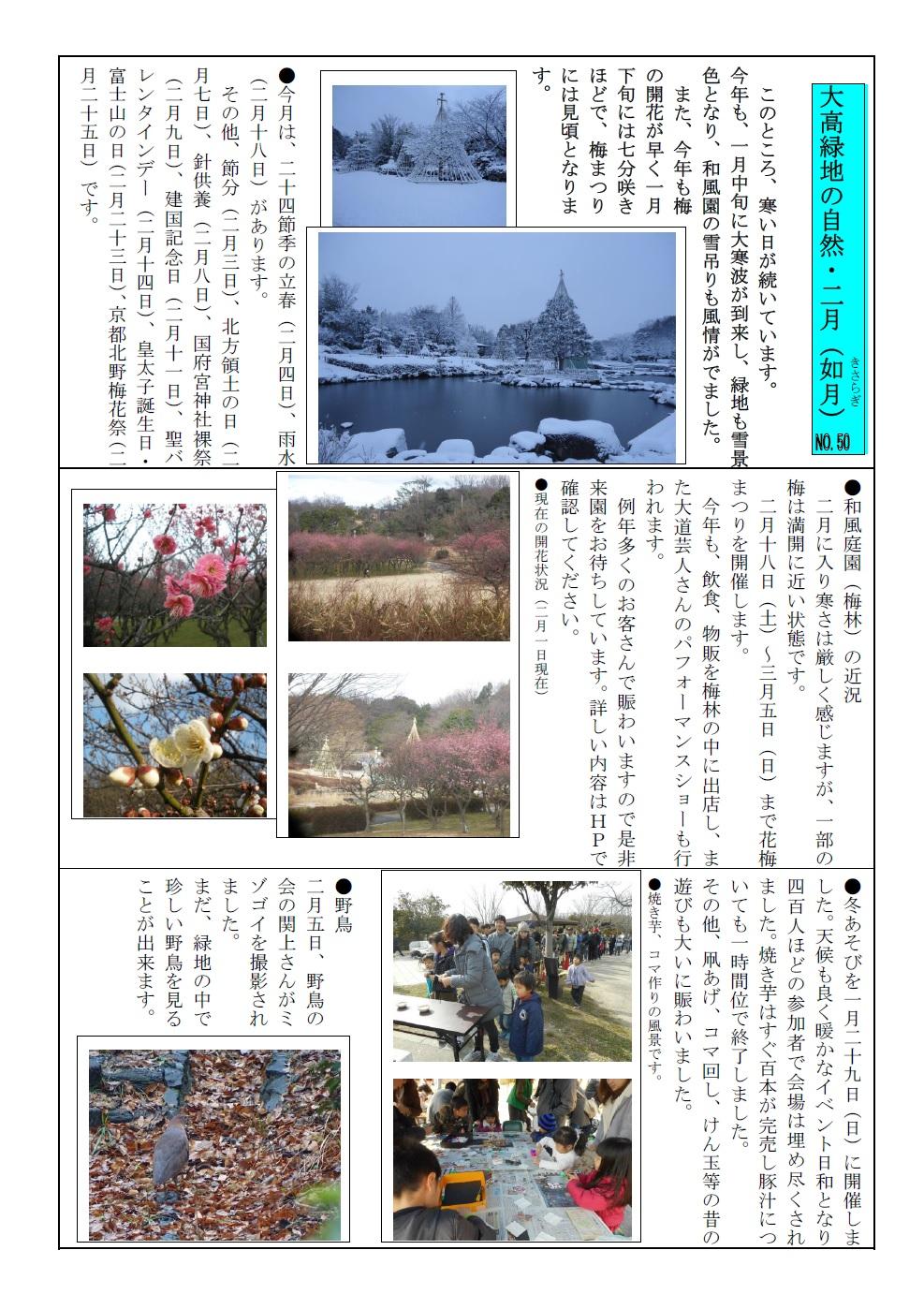 大高緑地の自然・29年2月