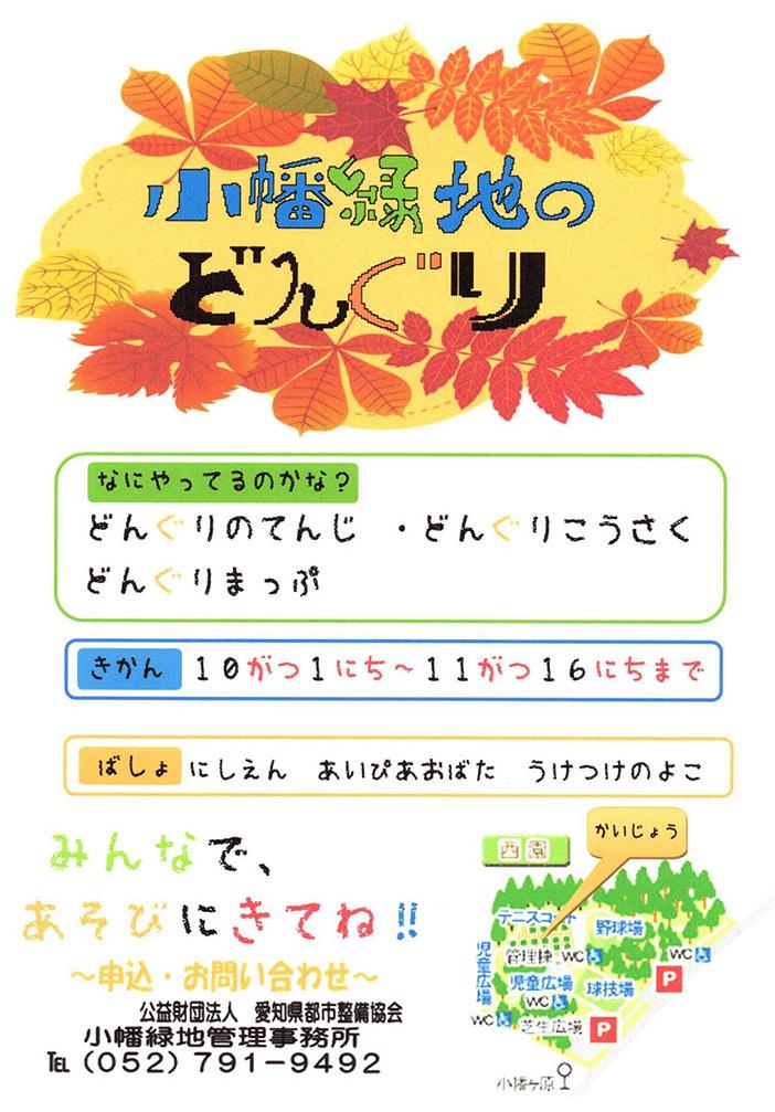小幡緑地どんぐりイベント2017