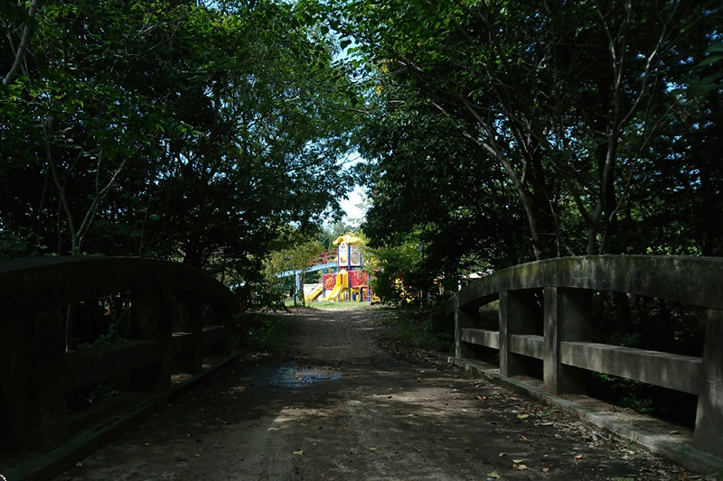 第11回 ふれあい百景フォトコンテスト小幡緑地 スマホ部門入選『橋の向こうに』